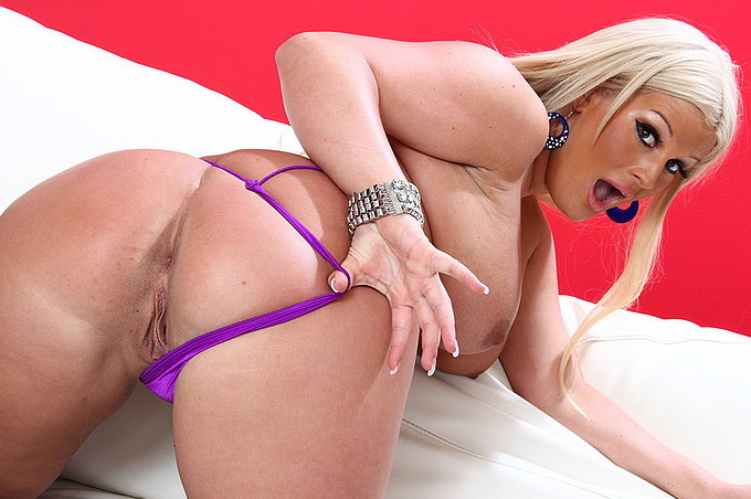 Wanton Blonde Stretched And Bent By Bbc To Her Glee