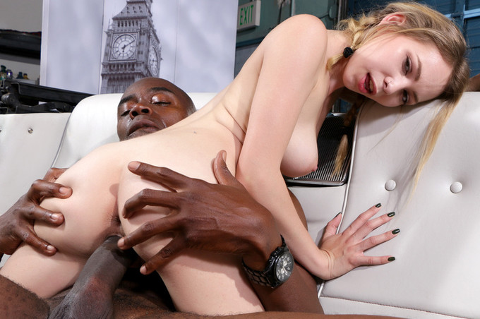 Blonde With Pigtails Loves A Big Black Dick In Her