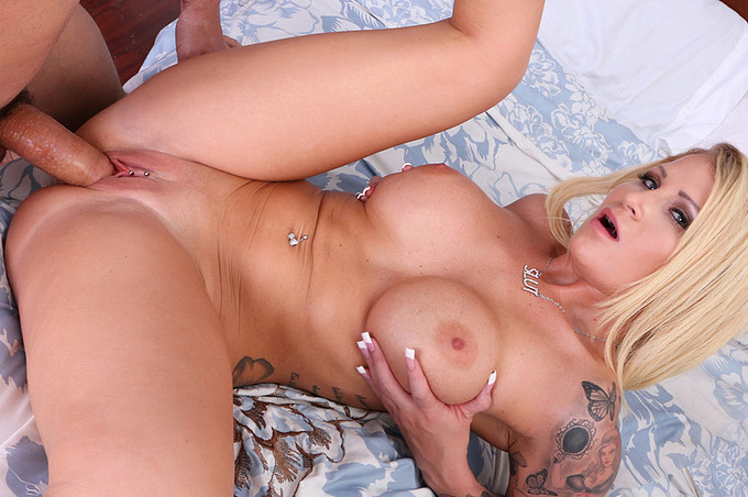 Big Titty Milf Fucks A Young Muscular Stud