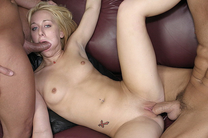 Cute Blonde Needs More Than One Hard Dick And She Gets It