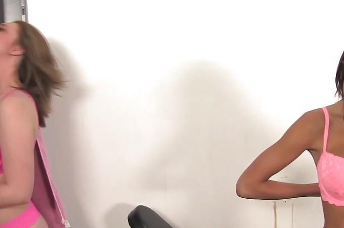 Horny Lesbian Caught Sniffing Panties In Lockerroom