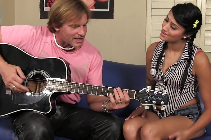 Horny Guitar Player Fucks Giselle Nice And Hard