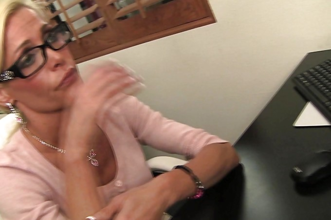 A Sexy Blonde Secretary Fucks Her Way To The Top