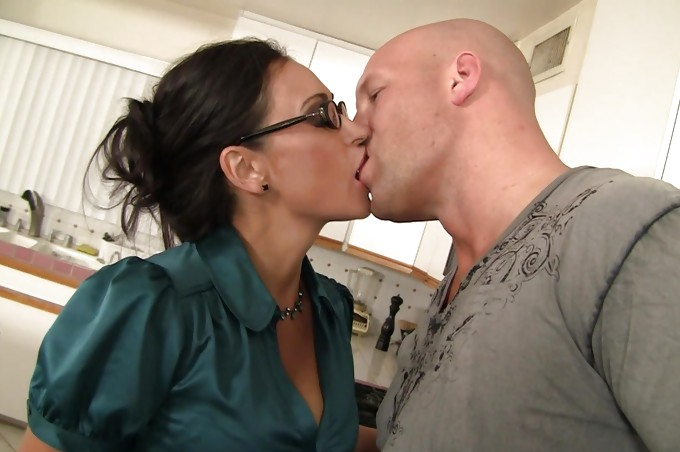 Beauty With Tan Skin And Glasses Loves A Giant Cock