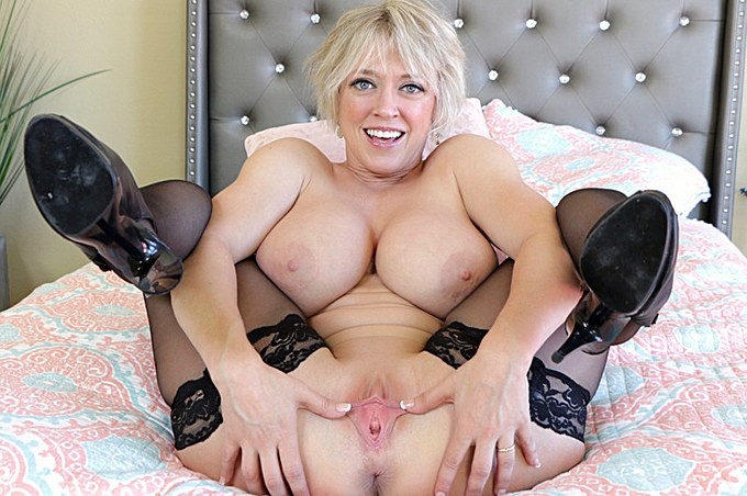 Blonde Milf With Short Hair And Big Tits Fucks